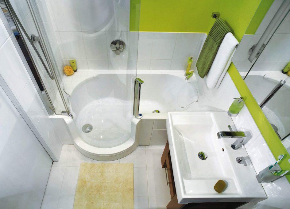 Расширение пространства в маленькой ванной комнате