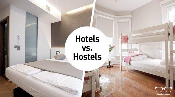 Отель против Хостела / коллаж: iftravellingwasfree.com